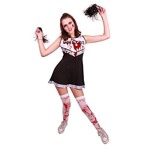 Paper Umbrella Zombie Cheerleader Halloween Kostüm Strümpfe (Kunstblut Für Ein Kostüm)