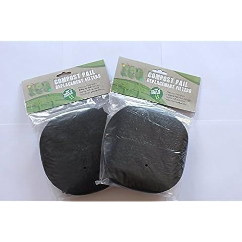 Eddingtons-Cubo para compost Filtros de repuesto-2paquetes