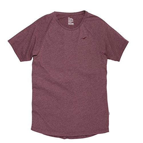 Cleptomanicx Herren T-Shirt Ligull Raglan Team - White Rot