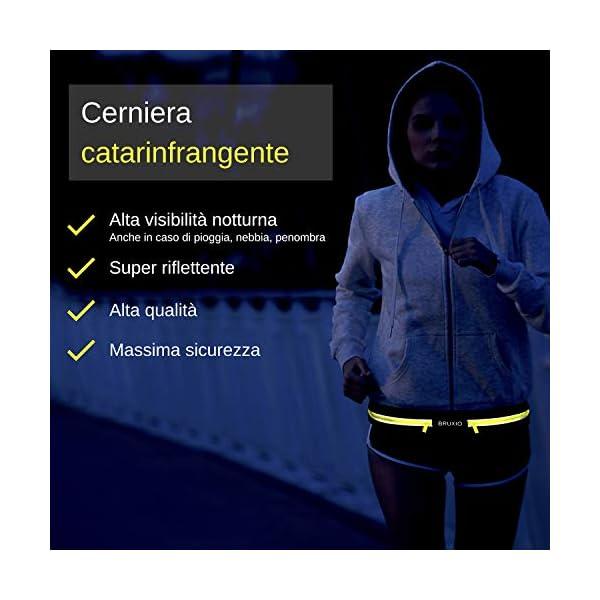 BRUXIO Marsupio Running Uomo Donna New Edition Cintura Sportiva Borraccia Removibile Porta Cellulare Impermeabile… 5 spesavip