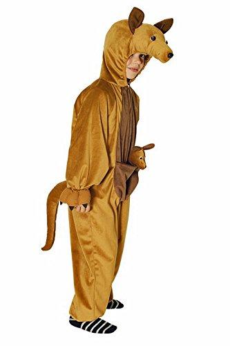 (Känguru Kostüm braun für Kinder | Größe 98/104 | 1-teiliges Tierkostüm | Safari Faschingskostüm | Australien Kostüm für Karneval (98/104))