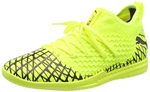 Puma Herren Future 4.3 Netfit IT Futsalschuhe, Gelb (Yellow Alert-Puma Black), 45 EU