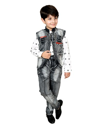 0fc584796 52% OFF on Arshia Fashions Boys Shirt Waistcoat and Jeans Set Party ...