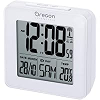Oregon Scientific RM511, Reloj despertador digital con repetición snooze, fecha y temperatura interior,