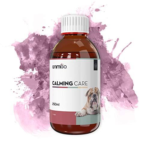 Animigo Calming Care per Cani - 250 ml Soluzione Liquida - Antistress Naturale alla Camomilla e Passiflora - Ideale per Affrontare Ambienti Rumorosi e Lunghi Viaggi