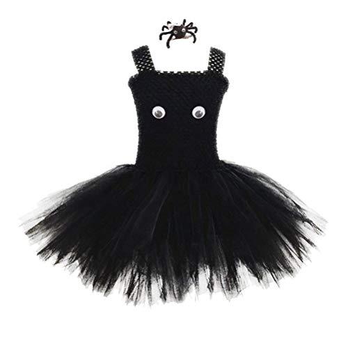 Holibanna Halloween Spinne Cosplay Kleidung Set Tutus Rock schwarz Tüll Kleid mit Haarspange Kinder Outfits für die Darstellung Leistung Kostüm für Frauen (80's Kostüm Für Schwangere)