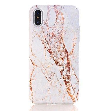 Cases/Holster Handy-Hüllen & Hüllen, Hülle Für iPhone Pattern Back Cover Marble Hard PC für iPhone (Farbe : Gold/White, Kompatible Modellen : iPhone 7)