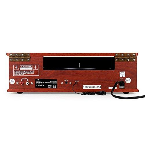 auna TT-92B Plattenspieler Schallplattenspieler (USB-SD-Slot, AUX-IN, UKW Radio, Stereo-Lautsprecher, Holzfurnier) braun - 4