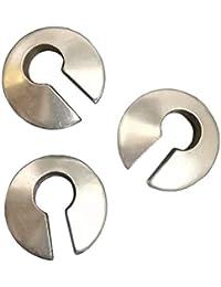 Pesos de oreja de pareja plateados plata para lóbulos estirados - Tres pendientes dilataciones orejas - Earrings…