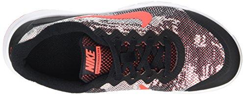 Nike - Nike Flex Experience 4 Print Gs Scarpe Sportive Donna Nere Pelle Tela 749811 Black/Bright Crimson-Blanc