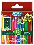 60 Mini Dreikant Buntstifte Malstift Farbstift