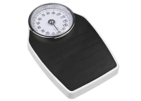 Eva Collection Analoge Personenwaage, schwarz, bis 150kg, 100g Schritte