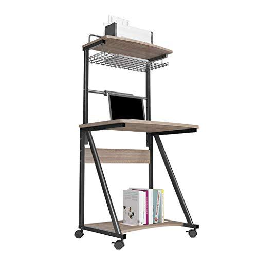 XHCP Kompakter Faltbarer Computertisch Computertisch Computertisch Betttisch mit Rädern, Notebookständer Lesehalter, Ergonomisch zusammenklappbarer Laptoptisch, 70 * 50 * 76,5-143 cm (Farbe: Gra - Kompakter Esstisch