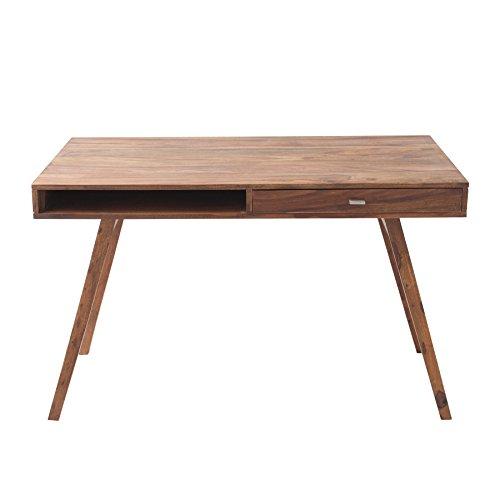Invicta Interior Schreibtisch Retro 120 cm Sheesham Stone Finish Tisch Holztisch Holz Schublade - Moderne Holz-finish Tisch