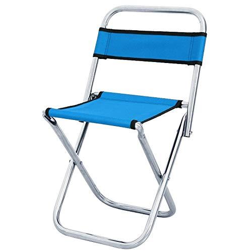 Hocker Mazar Outdoor tragbaren Angelstuhl Hocker mit Rücken Mazar (Color : Blue) ()