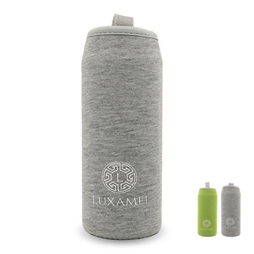 Luxamel thermocover manica in nylon per bottiglia di tè in formato 450ml (grigio)