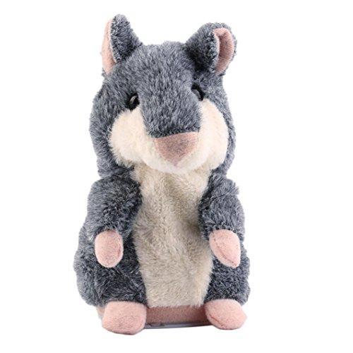 jouets pour enfants, SHOBDW Hot Speak Parler Enregistrez Nod Hamster Souris en peluche enfants Jouet cadeau (Gris)