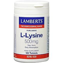 Lamberts L Lisina 500mg - 120 Tabletas