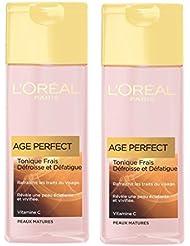 L'Oréal Paris Age Perfect Solution Tonique Confort Yeux et Visage Peaux Matures  - Lot de 2