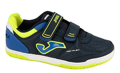 Joma Top Flex Jr, Chaussures de Futsal Mixte Enfant Bleu (Navy)