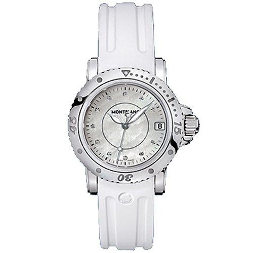 Montblanc sportivi da donna 103893argento gomma quarzo Swiss orologio da donna