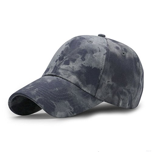 GADIEMENSS Sports Hat Breathable Outdoor Run Cap Camo Baseball caps Shadow Structured hats (Gray Blue) Camo Boonie Sun Hat