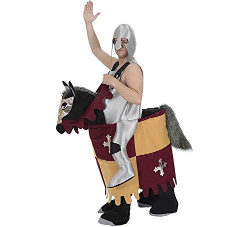 Kostüm Trag-Mich reitender Ritter Furchtlos Mittelalter Huckepack Karneval ()