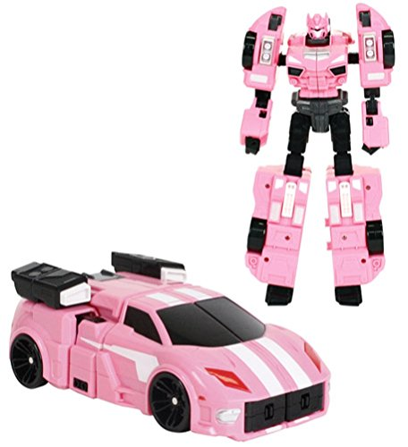 Mini Force 2018 New Version Miniforce X Lucybot Transforming Commando X Machine Car From Robot Pink Color