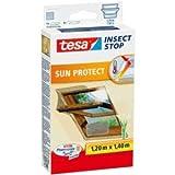 tesa 5 x Fliegengitter Insect Stop für Dachfenster mit Sonnenschutz 1,20x1,40m anthrazit/grau