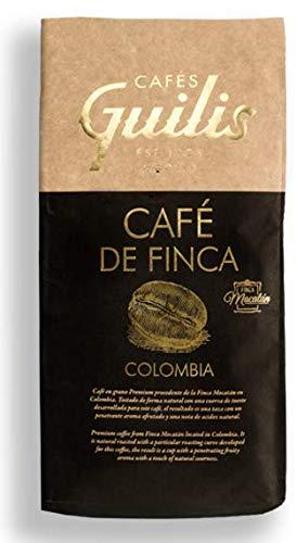 CAFES GUILIS DESDE 1928 AMANTES DEL CAFÉ - Café Colombiano en Grano Arábica Tueste Natural. Finca Mocatan 1 kilogramo