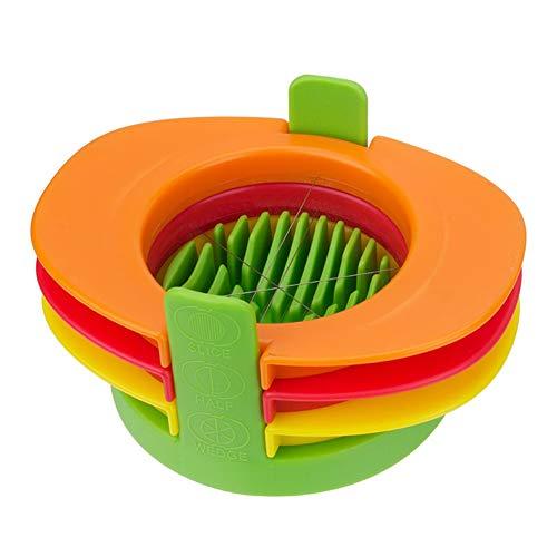 XIYAOEierschneider Set mit 3 Messern, schneiden Sie gekochte Eier in dünne Scheiben, Wedges oder Hälften, einfache manuelle Ei-Schneiden mit Slicer Stand