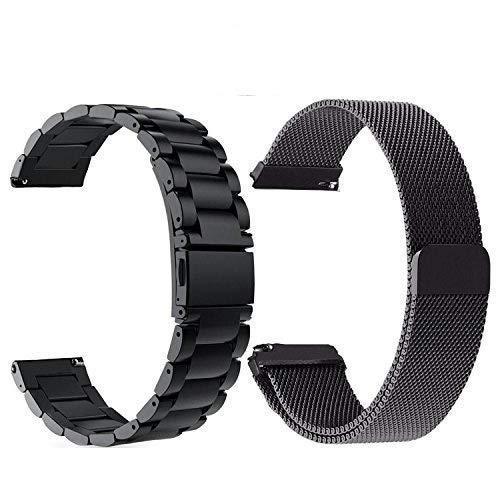 f2d06ff32 TRUMiRR Gear S3 Watch Correa, 22mm Solid + Correa de Reloj de Acero  Inoxidable Quick