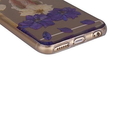 """iPhone 6sPlus Schutzhülle, iPhone 6Plus Soft TPU Handytasche, CLTPY Modisch Durchsichtige Rückschale im Getrocknete Blumenart, [Stoßdämpfung] & [Kratzfeste] Full Body Case für 5.5"""" Apple iPhone 6Plus/ Floral 32"""