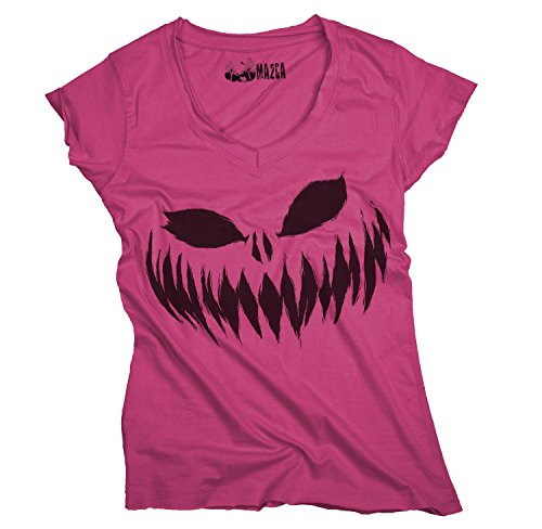 Ma2ca® Halloween Pumpkin Smiley black Frauen T-Shirt Sols Mild-fuchsia-s