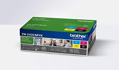 Brother TN-243CMYK Cartouche de Toner Original Imprime jusqu'à 1000 Pages, Cyan, Magenta, Jaune, Noir