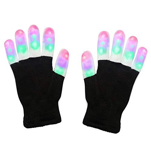 Cuigu LED-Finger-Handschuhe, wärmt Handschuhe, - Glow Tanz Kostüm