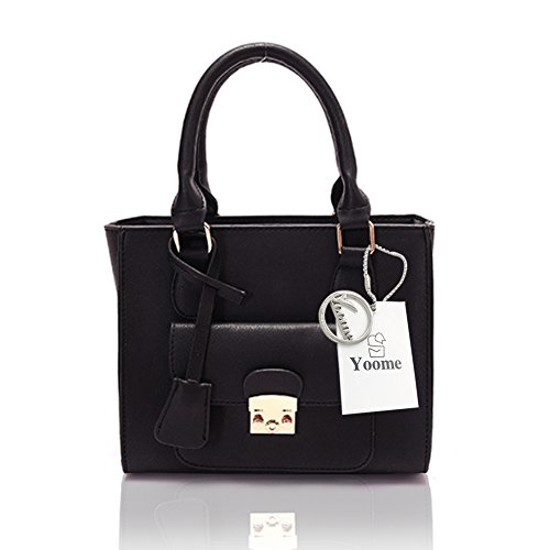 Zaini eleganti Retro Retro Yoome Catene Novità Chic Bags Crossbody Retro Borse Per Donne Top Handle Handbags - Marrone Nero