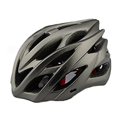 Cycle Helmet with Safety Light,Adults Men and Women Sport Bike Helmet for Road & Mountain Biking,Lightweight Helmet with Removable Visor and Liner Adjustable Thrasher,6 colors available from Meili Sports