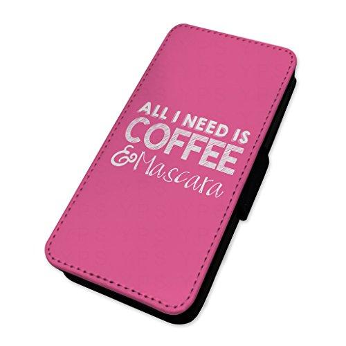 Kaffee-Mascara, Damen, mit–Flip Case Hülle Samsung A5 (2015)
