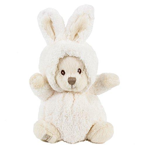 Kuscheltier Hase Teddybär Ziggy weiß 15cm, Plüschteddybär Plüschhase