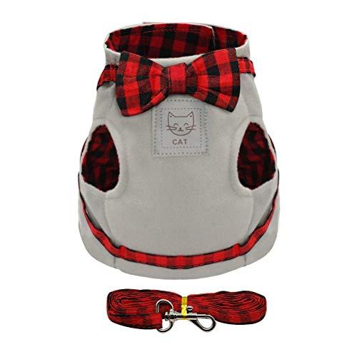 Haustier Katze Kätzchen Geschirre und Leine Set süß und süß Bowknot kleine Hunde Soft Comfort Vest Kleidung -