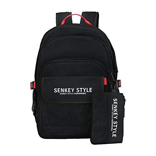 Reiserucksack Laptop, Studentenrucksack Schwarz, Computerrucksack Schultasche Für 18,3 Zoll Notebook, Große Kapazität, Oxford-Stoff
