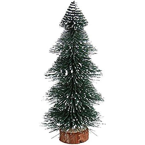 Mini Albero Di Natale Artificiale Regalo Ornamenti Festa Decorazione Xmas Partito - 17 cm