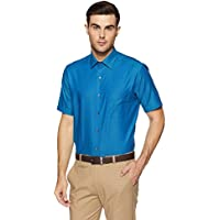 Arrow Men's Solid Regular Fit Formal Shirt (AFWSH0158_Blue_40)