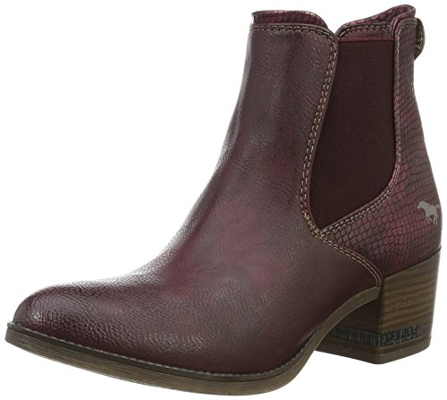 Mustang Damen 1230-501 Chelsea Boots Rot (55 Bordeaux)