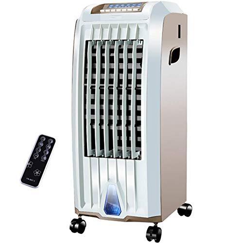 WSJTT Luftkühler, Air Personal Space Cooler Kleiner Desktop-Lüfter 4-in-1 mit Luftbefeuchtung, Luftreinigungsheizung, 3 Windgeschwindigkeitseinstellungen und 7,5-Stunden-Zeitfunktion