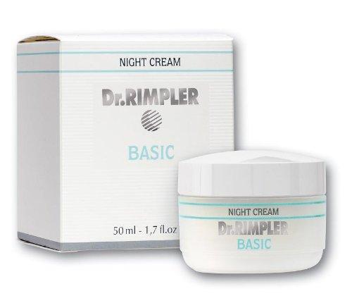Dr. Rimpler - Basic Hydro Night Cream - Gehaltvolle Nachtcreme zur Stärkung der Widerstandskraft der Haut, 1er Pack (1 x 50 ml) -