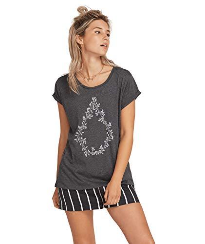 Volcom Damen Radical Daze Tee T-Shirt, Charcoal, S -