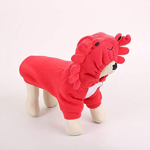 Kostüm Hunde Nhl - 6SlonHy Kapuzenpullover für den Winter, warm, Krabben-Motiv
