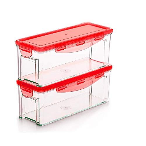 Genius Nicer Dicer Magic Cube Smart   Contenedor de, 4Piezas, Cortador de Frutas y Verduras, Conocido por TV